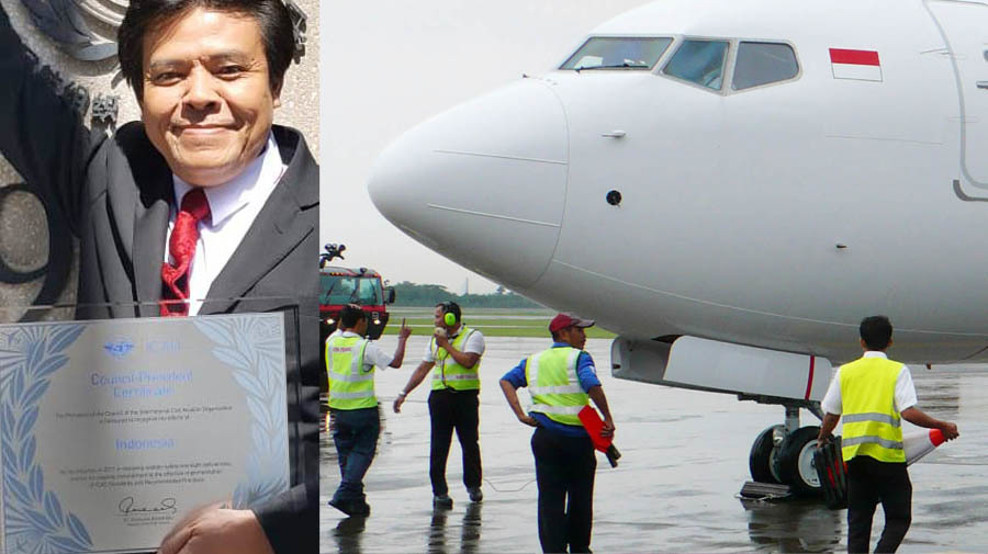 """Indonesia Civil Aviation Received """"Council President Certificate"""" from ICAO Council President"""