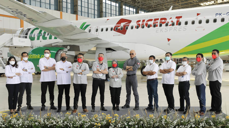 Extending Brand Awareness, SiCepat Express Livery is Now on Citilink Airlines